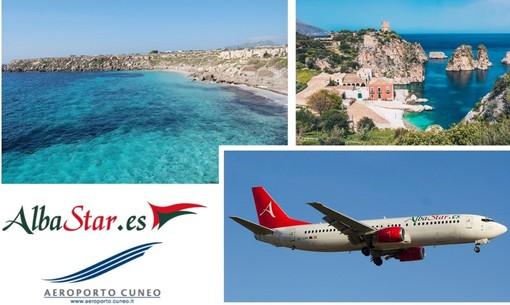 La Sicilia a portata di volo con Albastar: dall'aeroporto di Cuneo si potranno raggiungere Trapani e Catania