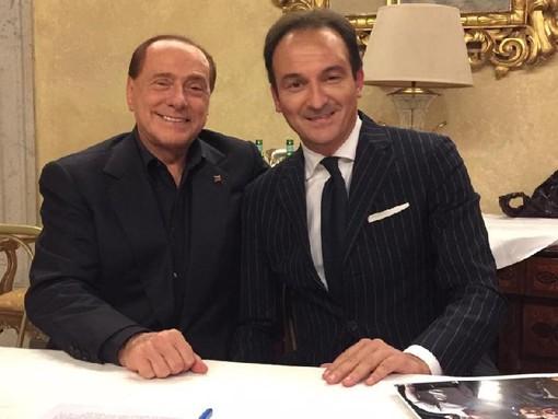 Alberto Cirio con Silvio Berlusconi