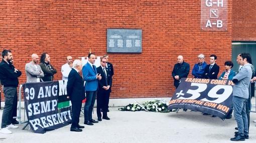 Una commemorazione allo stadio Heysel